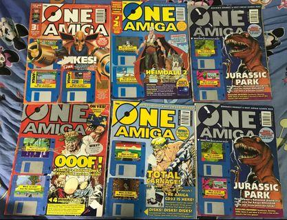 Many books, magazines, and user manuals for Commodore 64 and Amiga 500/600/1200