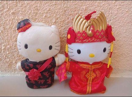 Hello Kitty Couple Chinese Wedding Mcdo Stuff Toy