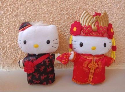 Hello Kitty Mcdo Chinese Couple Wedding Stuff Toy