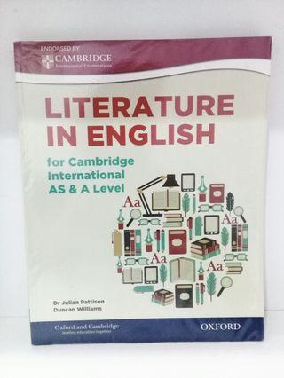 Cambridge A-Level Literature in English Textbook