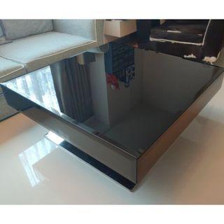 鏡面玻璃時尚方形桌 (限自取)
