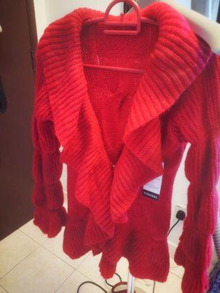 Red sweater / cardigan