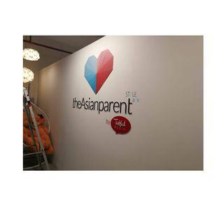 Custom Signage: 3D Acrylic with Printed Sticker