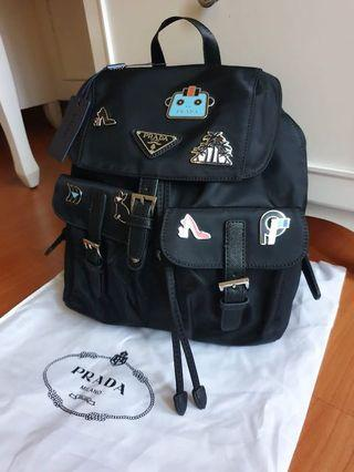 Prada robot backpack authentic