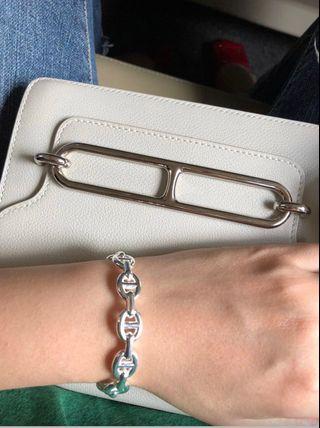 Hermes 豬鼻bracelet- silver 純銀925