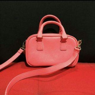 {reprice} bershka red crossbody sling bag