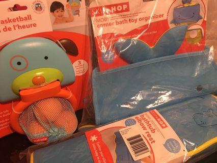 Brand new SKIP HOP MOBY & ZOO bath time accessories