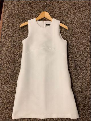 Zara white shift dress #MGAG101