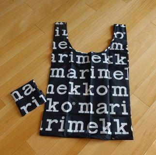 Marimekko黑白logo tote bag環保袋手挽