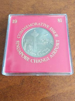 1981 $5 Singapore Changi Airport coin