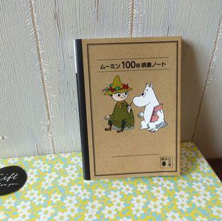 購自日本Moomin姆明notebook記事本簿史力奇呀美little my