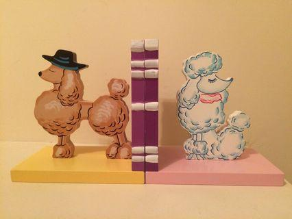 French Poodle Bookends