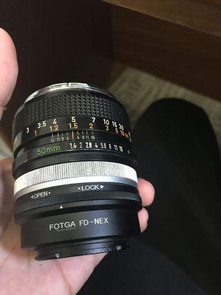 Canon fd 50mm f1.4 e mount