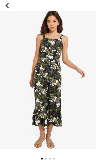 Floral Ruffles Hem Jumpsuit
