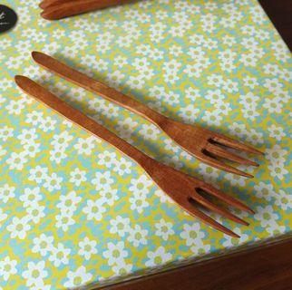 日本作家三谷龍二木工正餐叉一隻fork