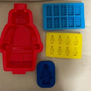4 piece set $15 - BN LEGO silicon mold for cake / jelly / chocolates. BPA Free. High quality silicon