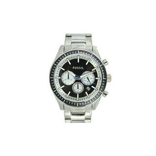Fossil Men's Stainless Steel Black Dial Chronograph Watch BQ1256