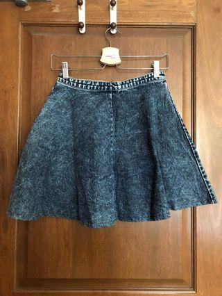 The Tinsel Rack Denim Skater Skirt