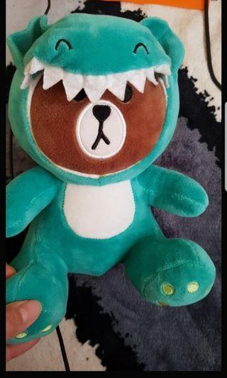 降價 玩偶 娃娃 line 熊大 恐龍