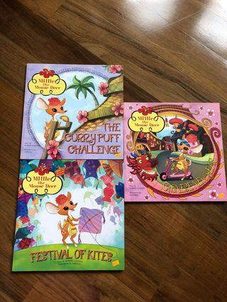 Story books: assorter titles of Millie the Mouse Deer