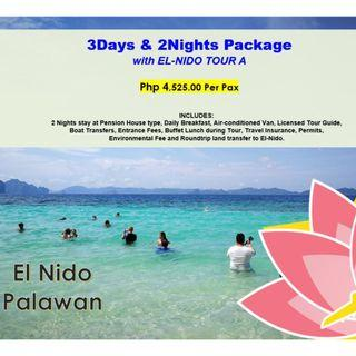 3D2N El Nido Package with Tour A