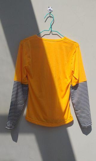 T shirt kaos salur kuning