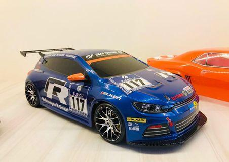 NEW Tamiya Scirocco GT24 painted lexan body
