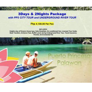 3D2N Puerto Princesa with PPS City Tour & Underground River Tour