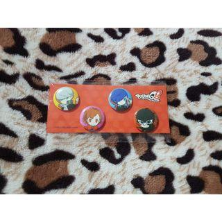 Persona Q2 Set of 4 Mini Button Badges