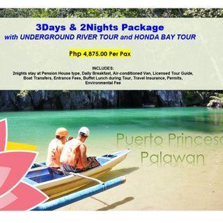 3D2N Puerto Princesa with Underground River & Honda Bay Tour