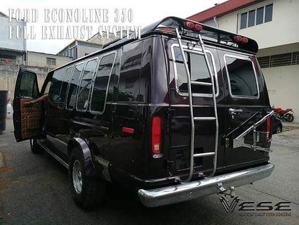 FORD ECONOLINE 350 FULL SET EXHAUST SYSTEM 3 1/2 TWIN BAR CUSTOM MADE