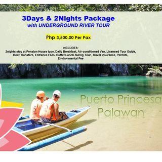 3D2N Puerto Princesa with Underground River Tour