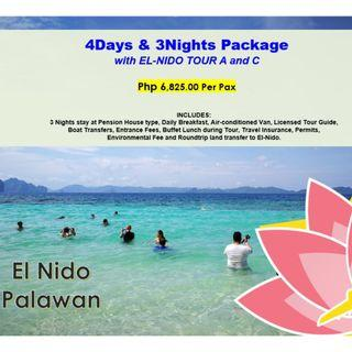 4D3N El Nido Package with Tour A & C