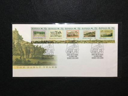 1988 Australia Bicentenary Of Australian Settlement (12th Issue)-  The Early Years FDC. Used Stamp Value Of Strip £4.50 #MGAG101