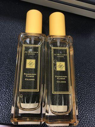 $400/30ml/jo malone frangipani flower cologne 雞蛋花味 限量香水