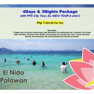 4D3N El Nido with PPS City Tour, El Nido Tour A & C
