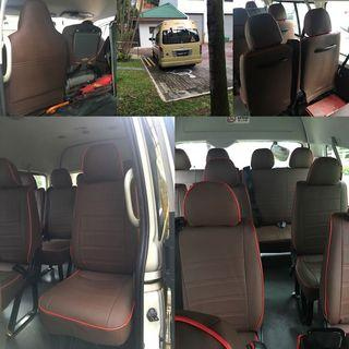 Hiace 14 seater leather seat cover (customise)