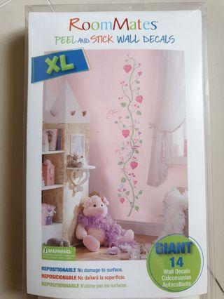 🚚 Girls Room wall decal / stickers. Kids Height tracking