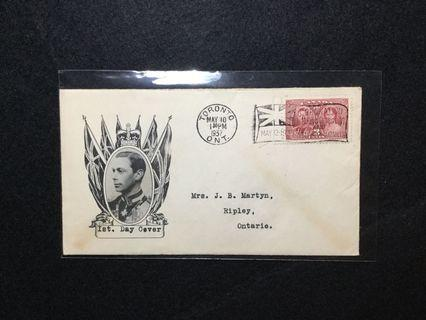 1937 Canada Coronation Of HM King George 6 & Queen Elizabeth FDC  (Note: Cover Lightly Toned) #MGAG101