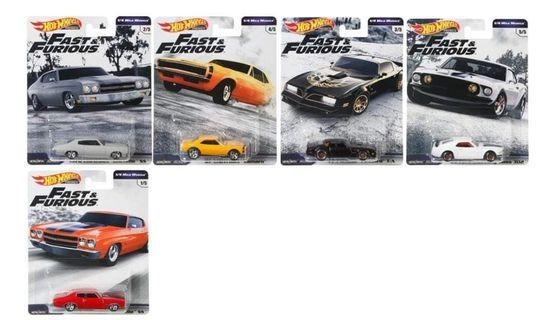 Hot Wheels Fast and Furious Wave 3 (set of 5)