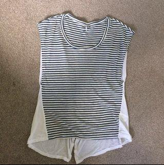 Split Back Striped O'Neill Top
