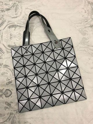 preloved - baobao look a like, silver color 32x32cm bag only.