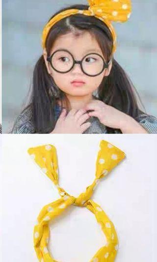 Kids Hairband Yellow Polka DOT Brand New