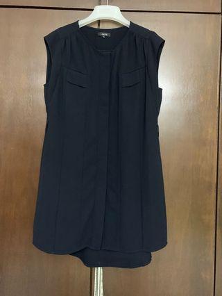 连身裙 (深蓝)
