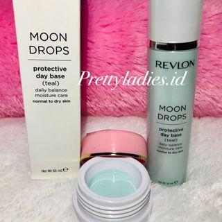 Revlon Moon Drops Protective Day Base Teal Share in jar
