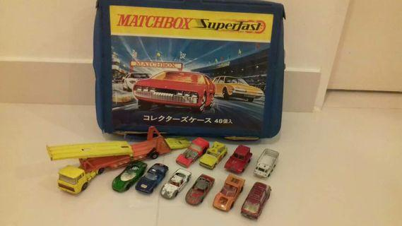 Matchbox Vintage Casing with 11 cars & free 6 cars