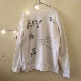 Sweater putih murah