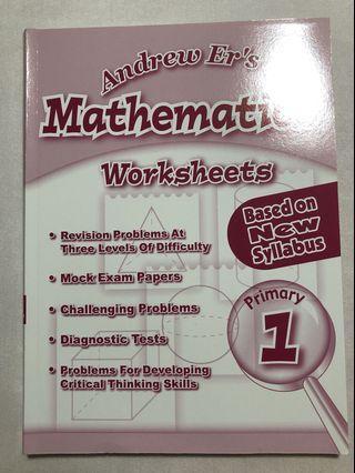 PRI.1 Andrew Er Mathematics worksheet