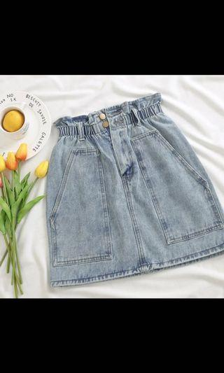 Brand New Denim Paperbag Skirt