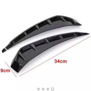 Gloss Black side marker fender air vent Honda Civic tenth generation